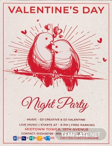 Free Valentine's Day Party Poster