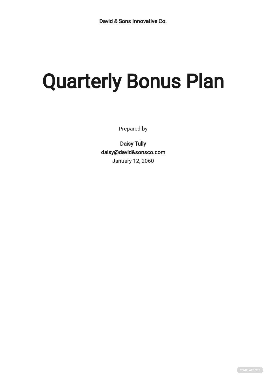 Quarterly Bonus Plan Template.jpe