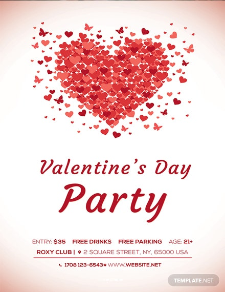 Free Valentine's Day Poster Template
