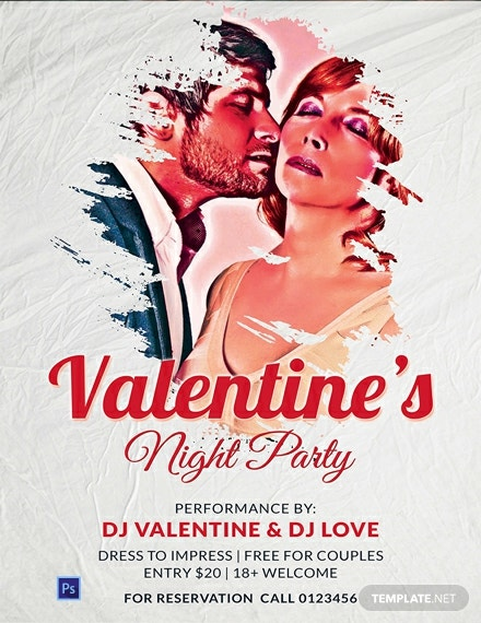 Free Valentine's Night Party Poster