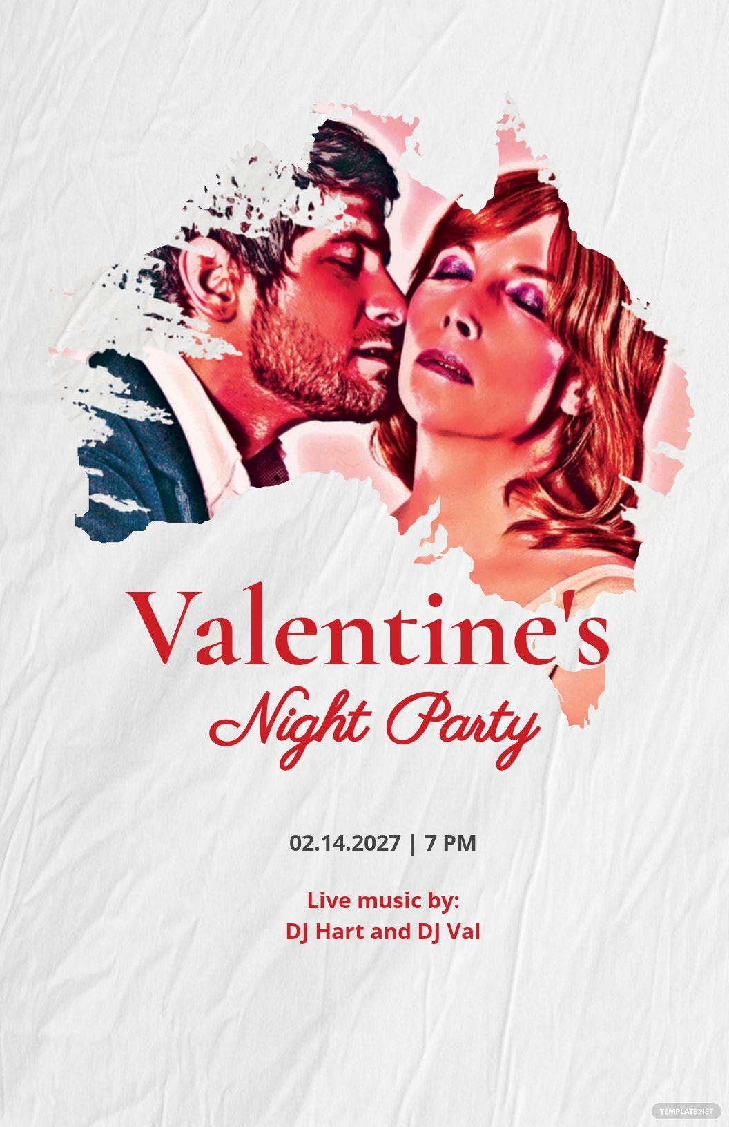 Valentine's Night Party Poster