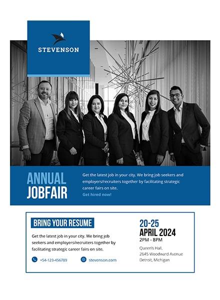 Free Job Fair Flyer Template In Adobe Photoshop Microsoft Word - Job flyer template word