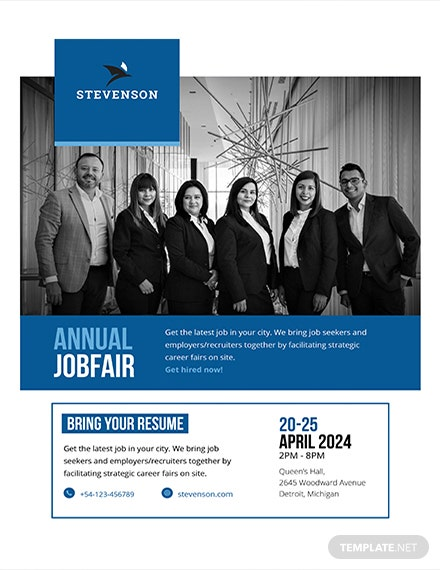 job fair flyer template 1
