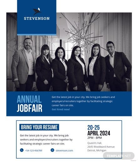 Free Job Fair Flyer Template Free Templates