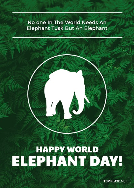 World Elephant Day Card