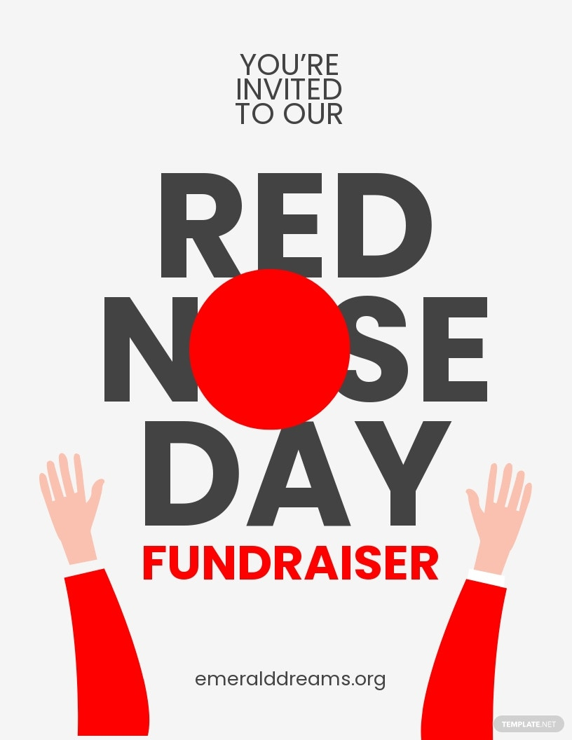 Red Nose Day Fundraising Flyer Template.jpe