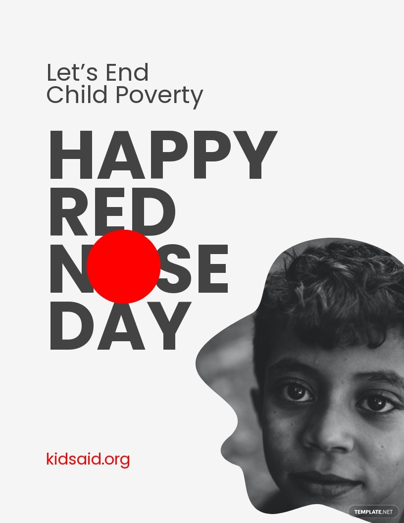 Simple Red Nose Day Flyer Template.jpe