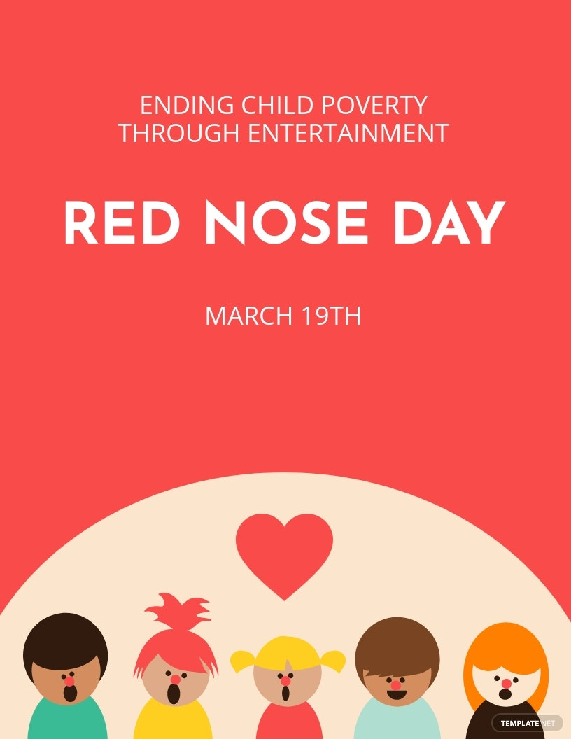 Red Nose Day Event Flyer Template.jpe