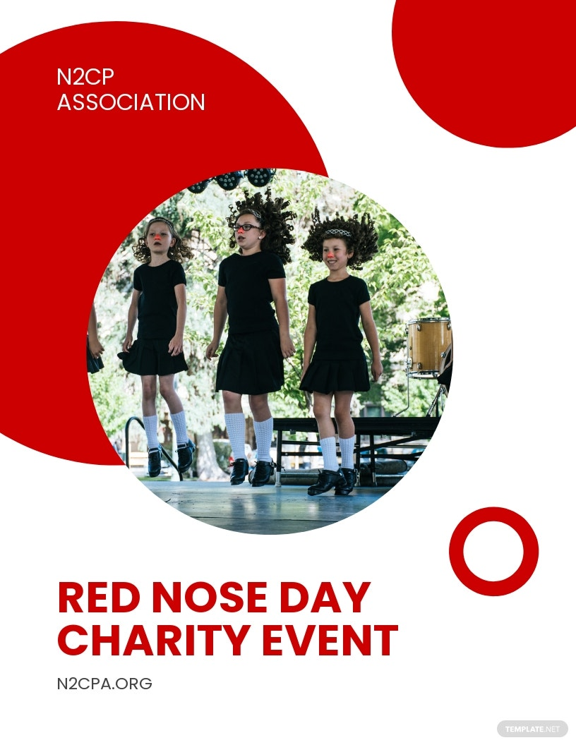 Red Nose Day Charity Event Flyer Template.jpe