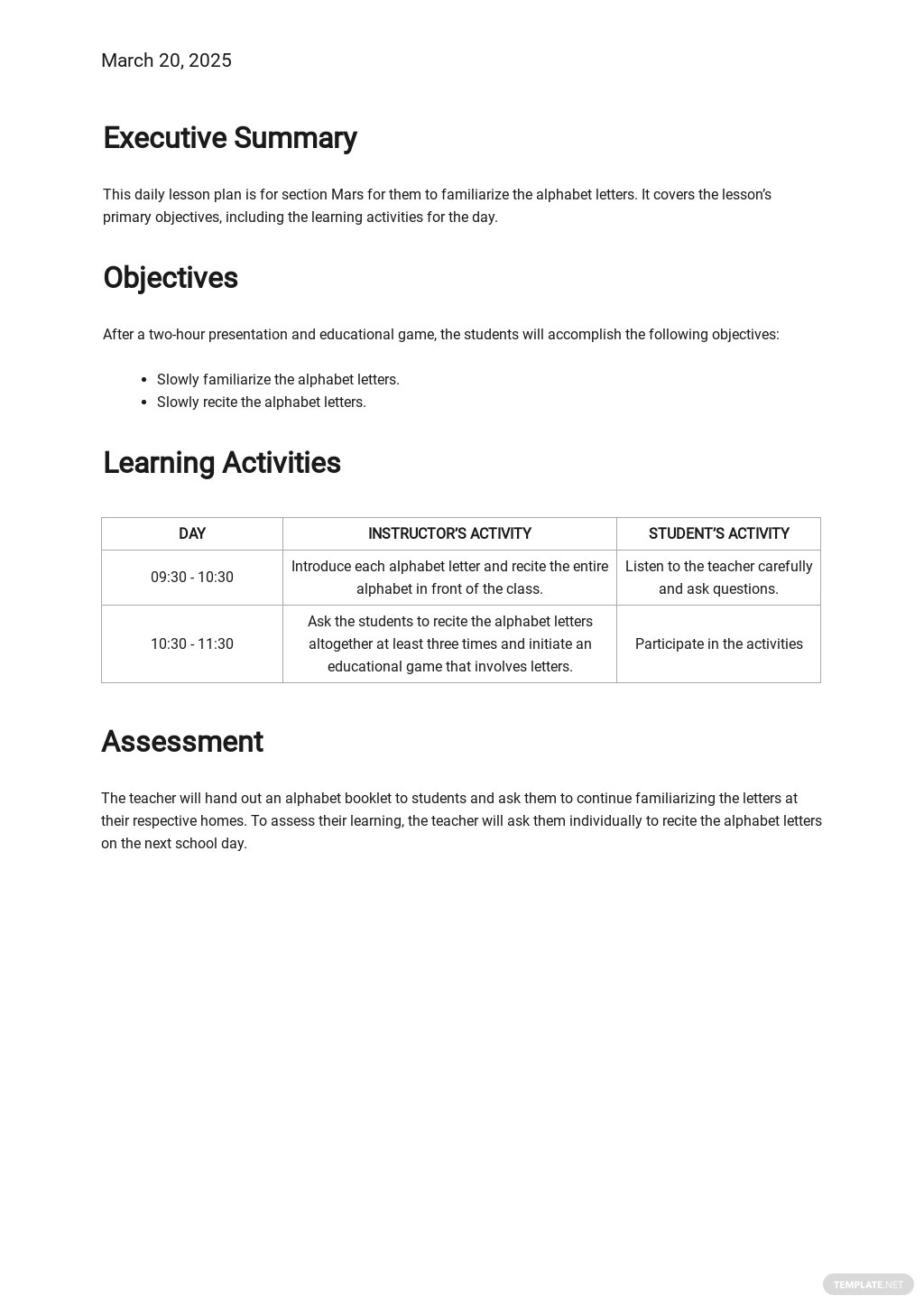Preschool Daily Lesson Plan Template 1.jpe