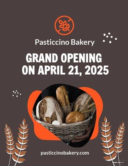 Bakery Grand Opening Flyer Template.jpe