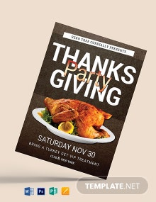 Free Thanksgiving Party Flyer Template