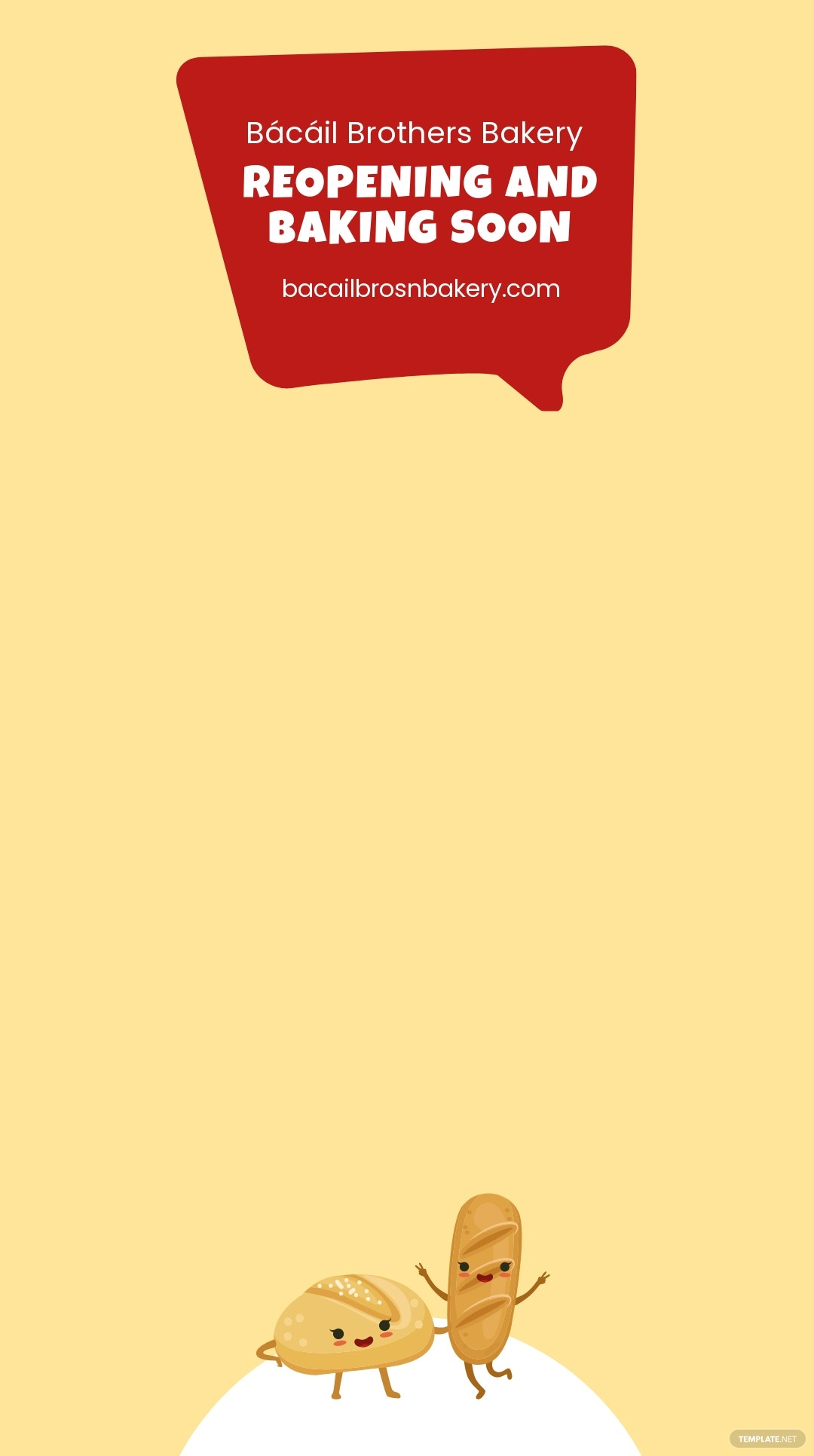 Free Bakery Reopening Snapchat Geofilter Template.jpe
