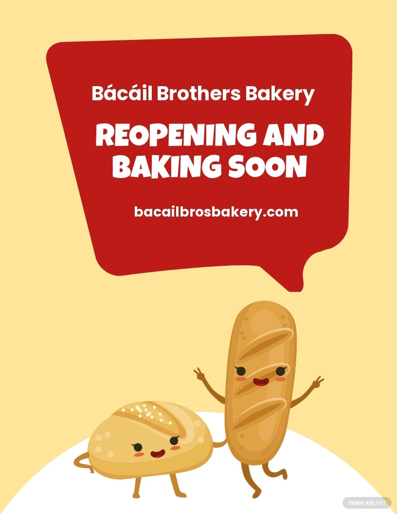 Free Bakery Reopening Flyer Template.jpe
