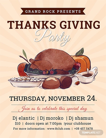 Free Thanksgiving Celebration Flyer Template