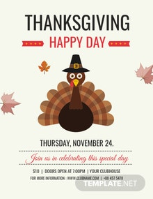 Free Happy Thanksgiving Flyer Template