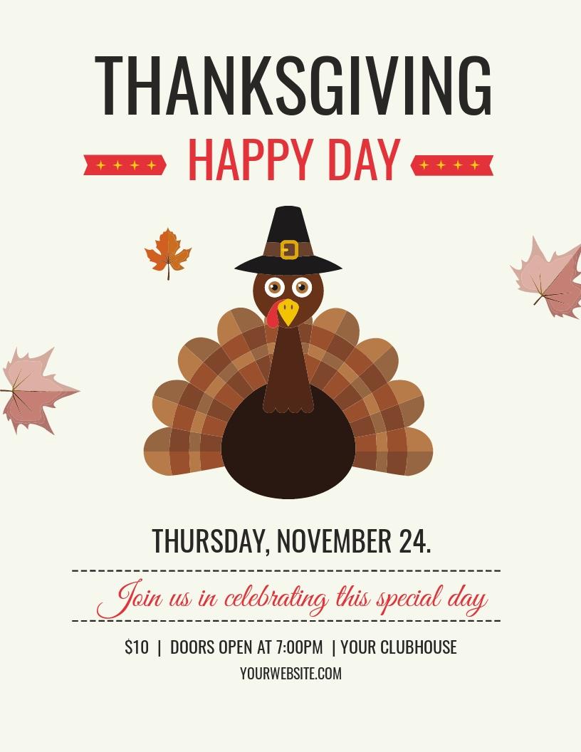 Happy Thanksgiving Flyer Template.jpe