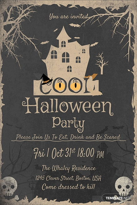 cool halloween party invitation template download 344 invitations