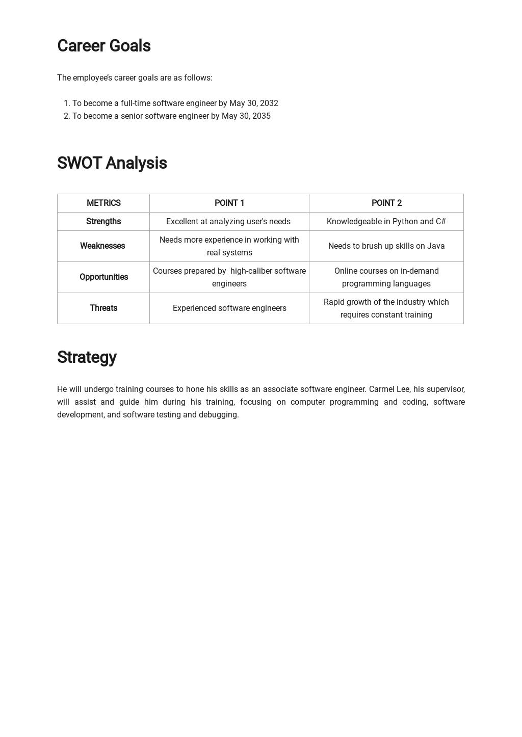 Simple Professional Development Plan Template 1.jpe