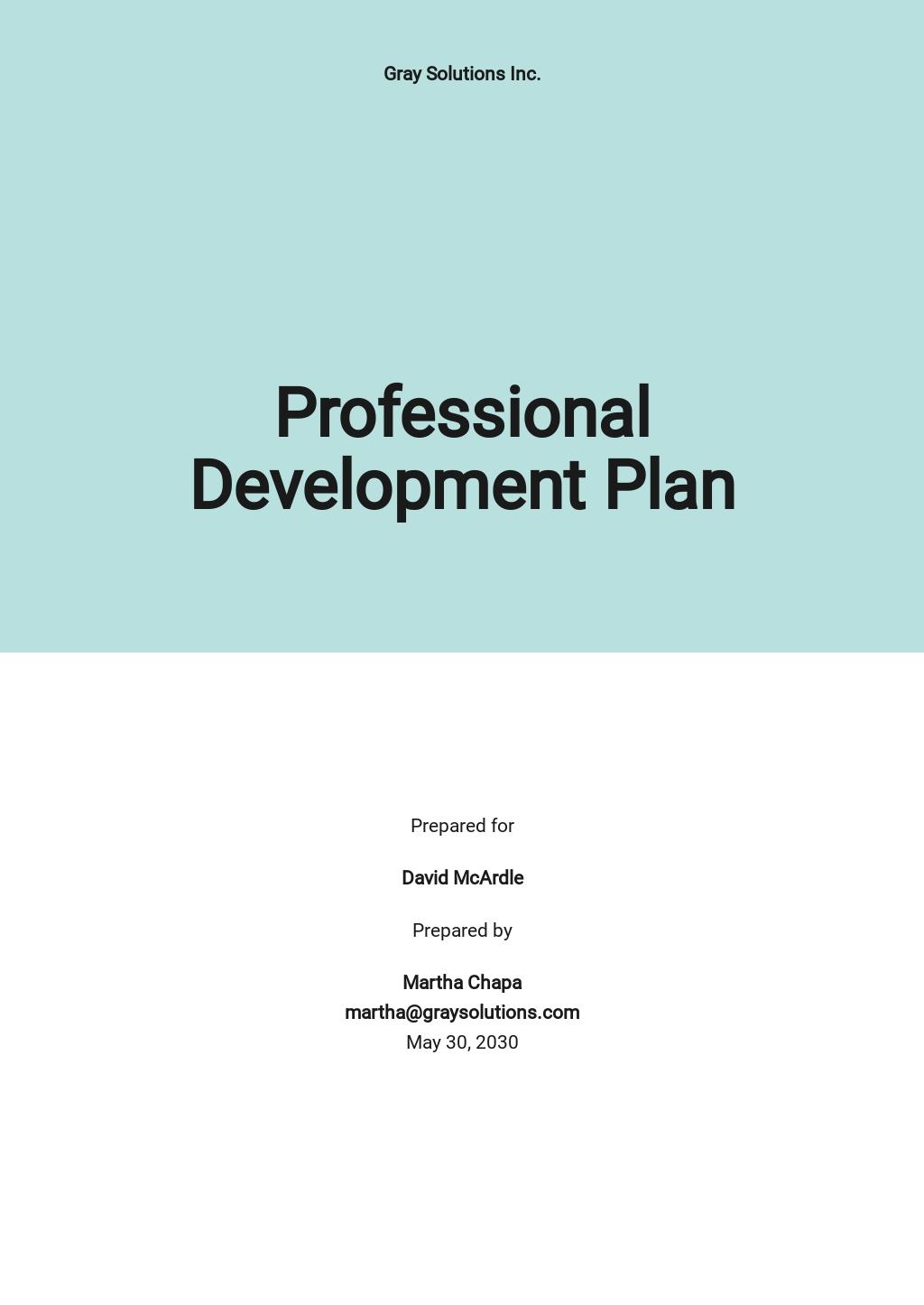 Simple Professional Development Plan Template.jpe