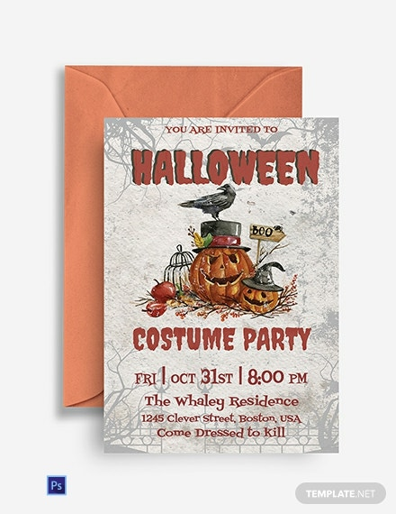 Free Halloween Costume Party Invitation Template
