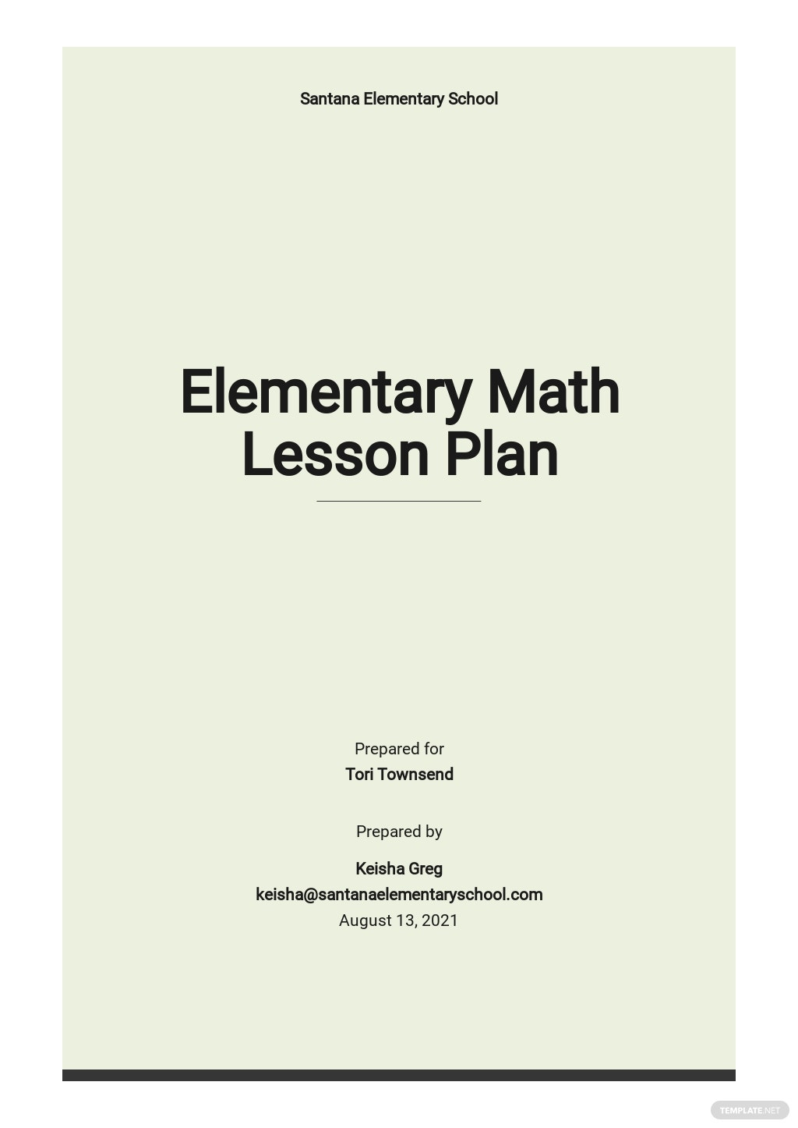 Elementary Math Lesson Plan Template.jpe