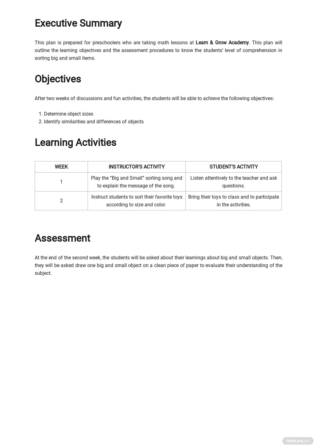 Simple Preschool Lesson Plan Template 1.jpe