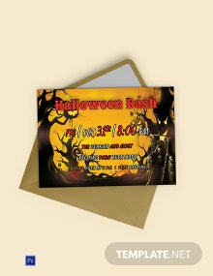 Free Halloween Bash Printable Invitation Template