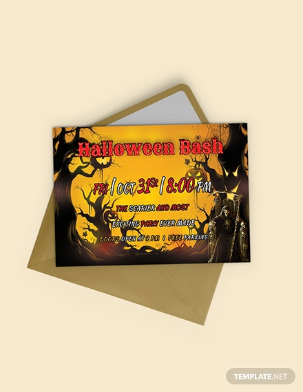 Free Halloween Bash Printable Invitation Template