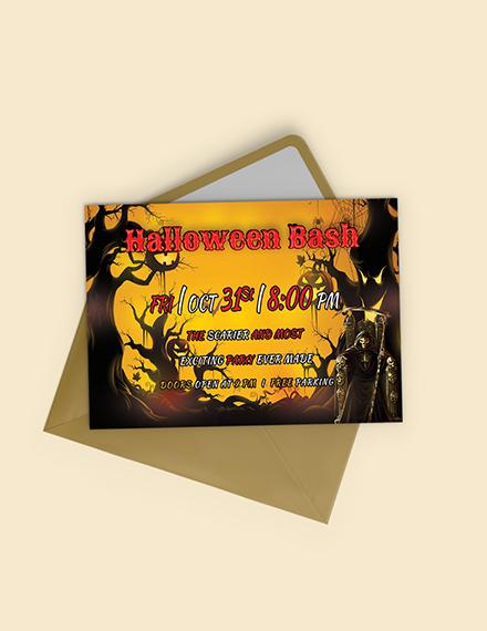 Halloween Bash Printable Invitation Template
