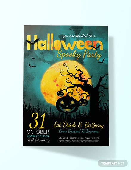 free creepy halloween invitation template download 344 invitations