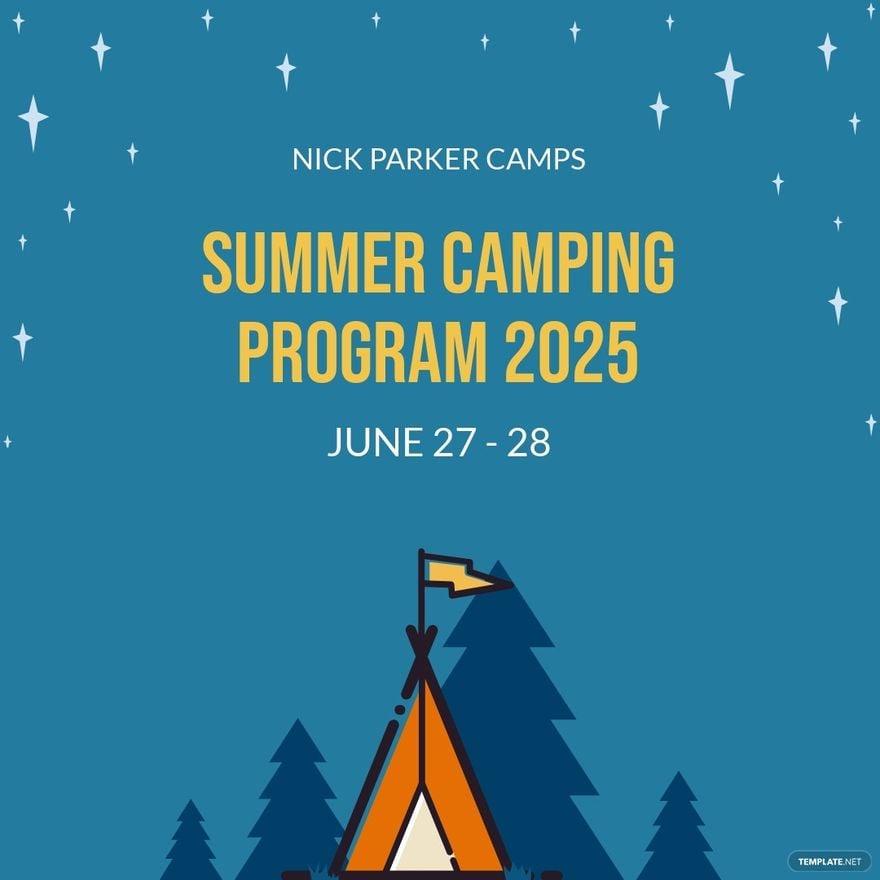 Camping Program Instagram Post Template.jpe