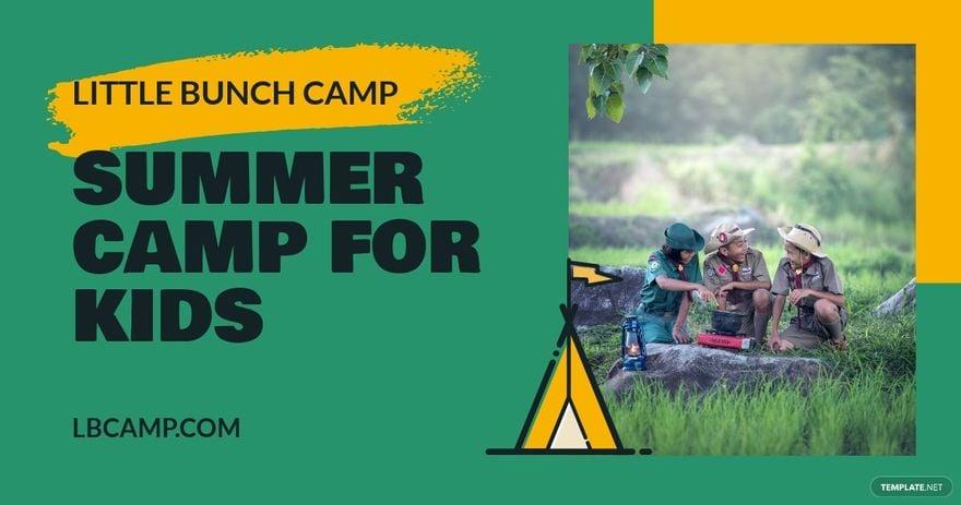 Kids Summer Camp Facebook Post Template.jpe