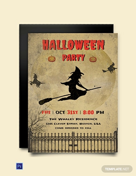 Free Download Halloween Invitation Template