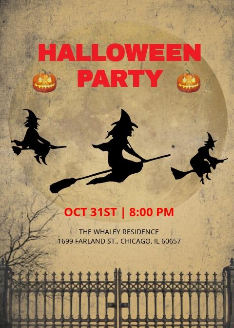 Download Halloween Invitation Template