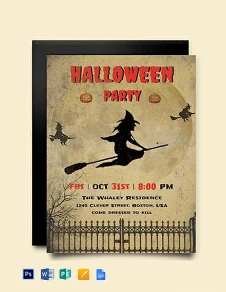 Free Download Halloween Invitation Template