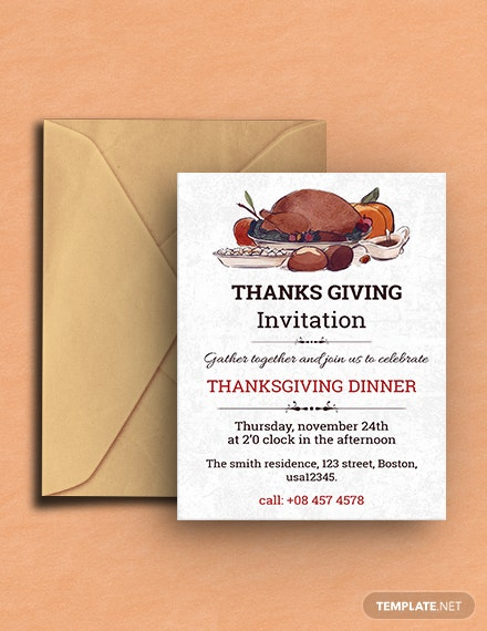 FREE Thanksgiving Dinner Invitation Template Download 884