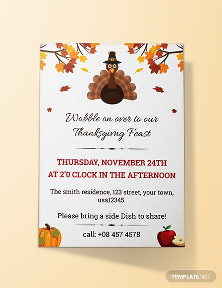 Thanks Giving Invitation