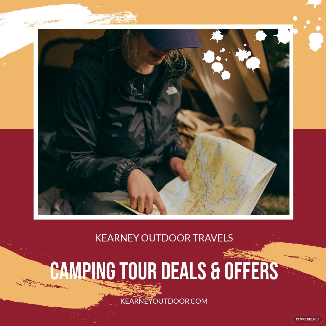 Camping Tour Offer Instagram Post Template.jpe