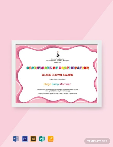 free funny participation certificate template 440x570 1