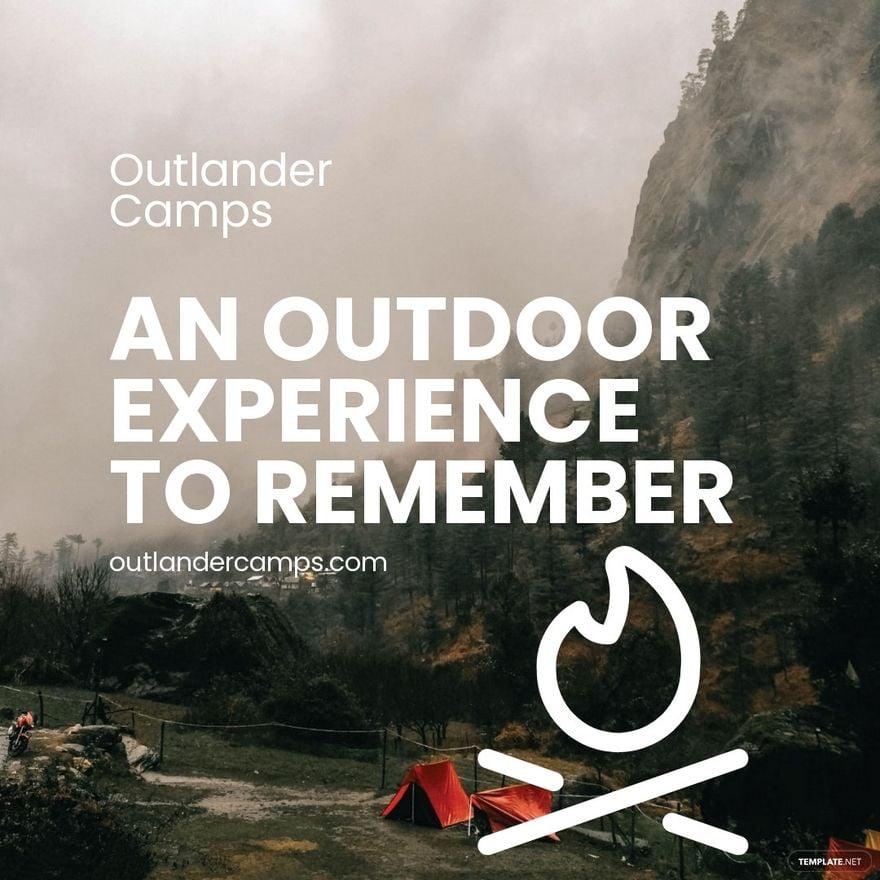 Camping Advertisement Instagram Post Template.jpe