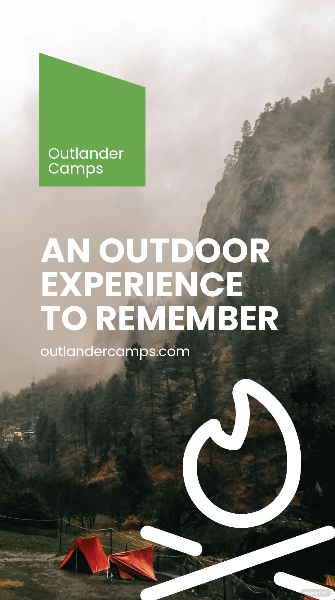 Camping Advertisement Instagram Story Template.jpe