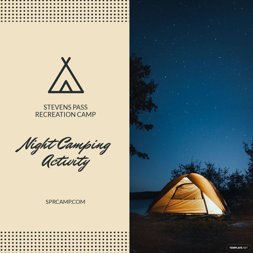 Night Camping Instagram Post Template.jpe