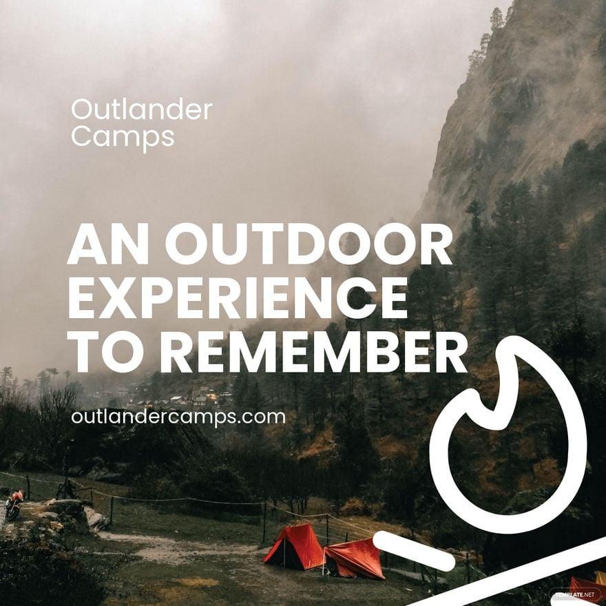 Camping Advertisement Linkedin Post Template.jpe