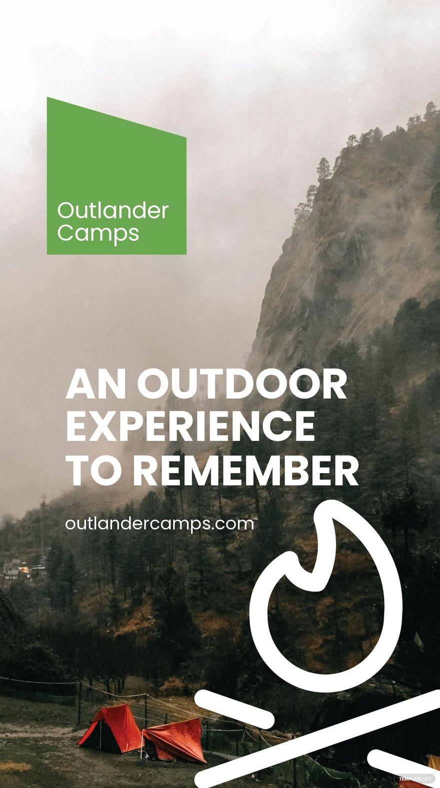 Camping Advertisement Whatsapp Post Template.jpe