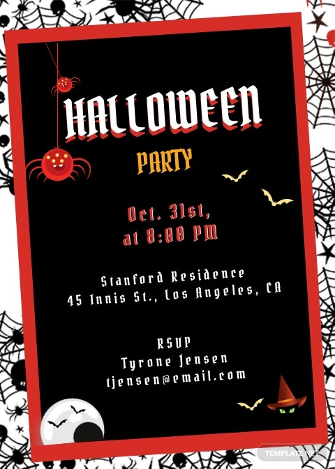 Free Halloween Party Invitation Template.jpe
