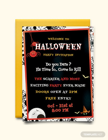 free halloween party invitation template download 344 invitations
