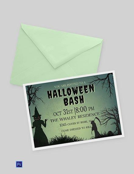 Free Halloween Bash Invitation Template