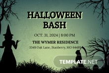 Free Halloween Bash Invitation Template