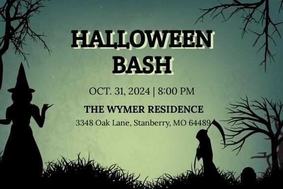 Halloween Bash Invitation Template